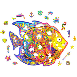 Wooden Jigsaw Puzzle Shining fish