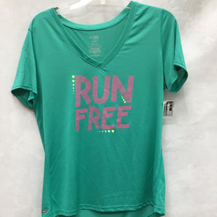 Primary Photo - BRAND: DANSKIN NOW STYLE: ATHLETIC TOP SHORT SLEEVE COLOR: TEAL SIZE: L SKU: 193-19357-55915