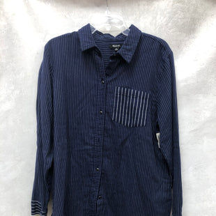 Primary Photo - BRAND: MADEWELL STYLE: TOP LONG SLEEVE COLOR: BLUE SIZE: XL SKU: 193-19357-55453