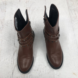 Primary Photo - BRAND:    CLOTHES MENTOR STYLE: BOOTS ANKLE COLOR: BROWN SIZE: 6.5 OTHER INFO: SORLIVO - SKU: 193-193113-7681