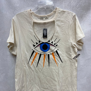 Primary Photo - BRAND: EXPRESS O STYLE: TOP SHORT SLEEVE BASIC COLOR: CREAM SIZE: M OTHER INFO: NEW! SKU: 193-19357-55656