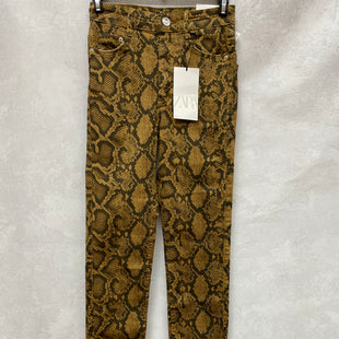 Primary Photo - BRAND: ZARA WOMEN STYLE: PANTS COLOR: SNAKESKIN PRINT SIZE: 2 OTHER INFO: NEW! SKU: 193-193143-3226