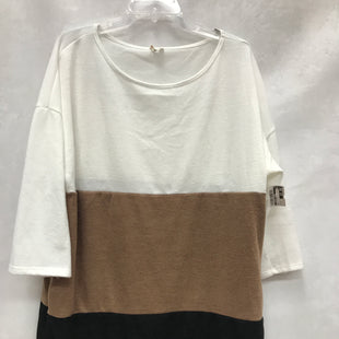 Primary Photo - BRAND:    CLOTHES MENTOR STYLE: TOP LONG SLEEVE BASIC COLOR: BROWN SIZE: 3X SKU: 193-193140-2117