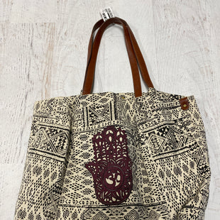Primary Photo - BRAND: LUCKY BRAND STYLE: HANDBAG COLOR: BLACK WHITE SIZE: LARGE SKU: 193-193138-7489