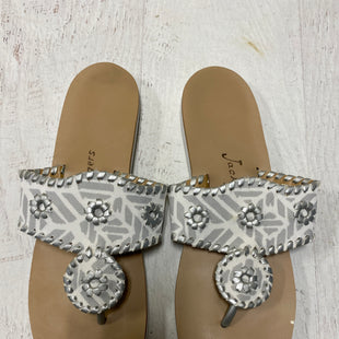 Primary Photo - BRAND: JACK ROGERS STYLE: SANDALS FLAT COLOR: WHITE SIZE: 10 SKU: 193-193106-17281