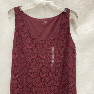 Primary Photo - BRAND: LOFT STYLE: TOP SLEEVELESS COLOR: MAROON SIZE: XL SKU: 193-193153-780