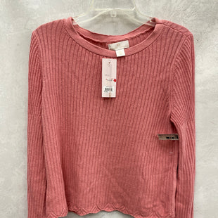 Primary Photo - BRAND:    CLOTHES MENTOR STYLE: TOP LONG SLEEVE COLOR: PINK SIZE: S OTHER INFO: RACHEL PARCELL - SKU: 193-19357-55670