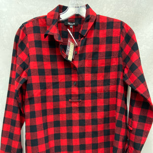 Primary Photo - BRAND: MADEWELL STYLE: TOP LONG SLEEVE COLOR: PLAID SIZE: XS SKU: 193-19357-55376