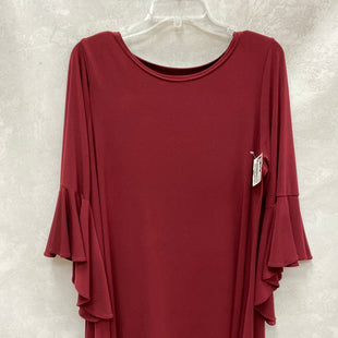 Primary Photo - BRAND: ALFANI STYLE: TOP LONG SLEEVE COLOR: MAROON SIZE: 1X SKU: 193-193153-539