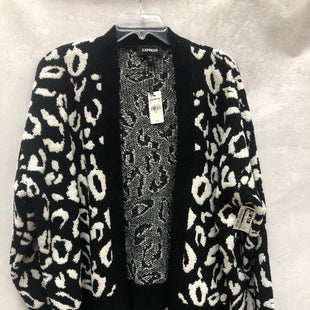 Primary Photo - BRAND: EXPRESS STYLE: SWEATER CARDIGAN LIGHTWEIGHT COLOR: BLACK WHITE SIZE: M OTHER INFO: NEW! SKU: 193-193135-10352