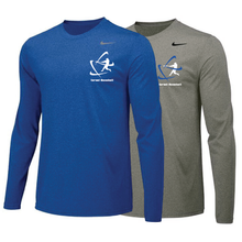 Load image into Gallery viewer, Men's NIKE® Dri-Fit Long Sleeve T-Shirt - Royal Blue, Carbon Gray (Small Logo)