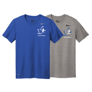 Men's NIKE® Dri-Fit Short Sleeve T-Shirt - Royal Blue, Carbon Gray (Small Logo)