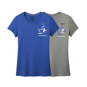 Women's NIKE® Dri-Fit Short Sleeve T-Shirt - Royal Blue, Carbon Gray (Small Logo)