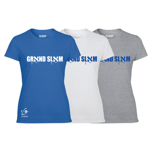 Women's Grאnd Slאm Short Sleeve T-Shirt - Blue, White, Gray