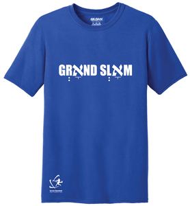 Youth Grאnd Slאm Short Sleeve T-Shirt - Blue, White, Gray