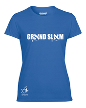 Load image into Gallery viewer, Women's Grאnd Slאm Short Sleeve T-Shirt - Blue, White, Gray