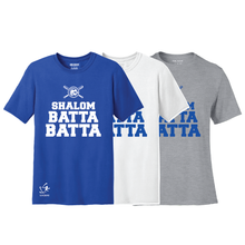 Load image into Gallery viewer, Youth Shalom Batta Batta Short Sleeve T-Shirt - Blue, White, Gray