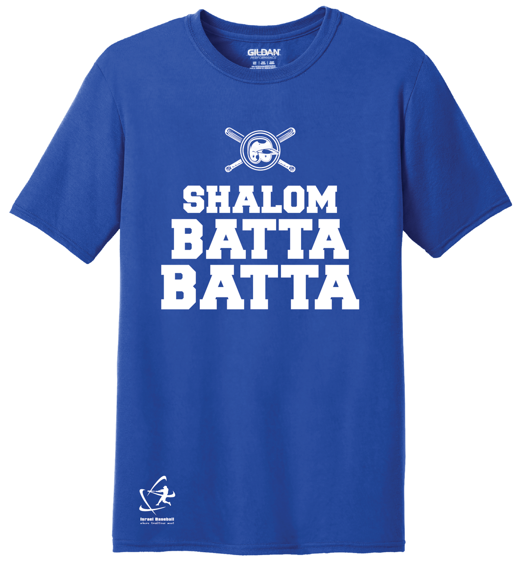 Youth Shalom Batta Batta Short Sleeve T-Shirt - Blue, White, Gray