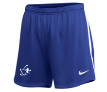 Load image into Gallery viewer, Women's NIKE® Team Dry Shorts - Royal Blue & White