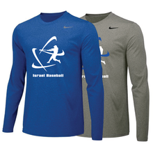 Load image into Gallery viewer, Men's NIKE® Dri-Fit Long Sleeve T-Shirt - Royal Blue, Carbon Gray (Large Logo)