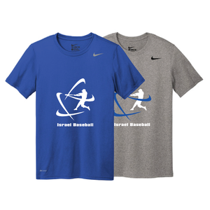 Men's NIKE® Dri-Fit Short Sleeve T-Shirt - Royal Blue, Carbon Gray (Large Logo)