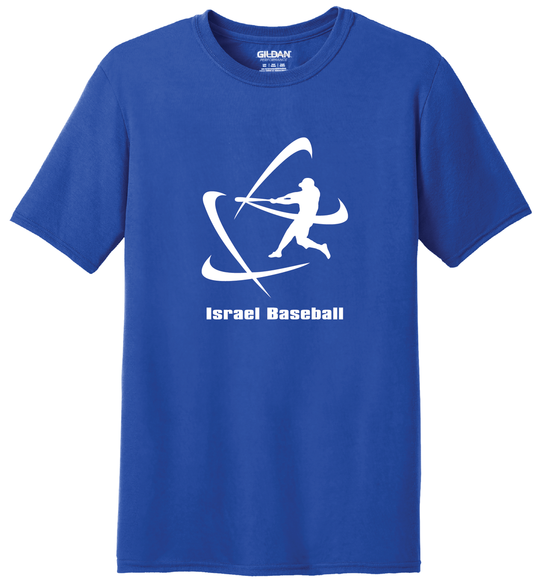 Men's Israel Baseball Short Sleeve T-Shirt - Blue, White, Gray