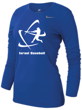 Load image into Gallery viewer, Women's NIKE® Dri-Fit Long Sleeve T-Shirt - Royal Blue, Carbon Gray (Large Logo)