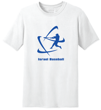 Load image into Gallery viewer, Men's Israel Baseball Short Sleeve T-Shirt - Blue, White, Gray