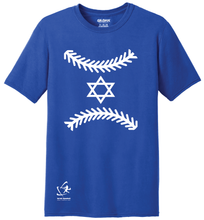 Load image into Gallery viewer, Youth Star of Baseball Short Sleeve T-Shirt - Blue, White, Gray