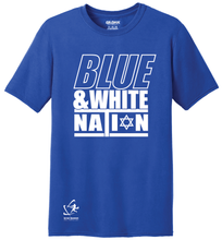 Load image into Gallery viewer, Youth Blue & White Nation Short Sleeve T-Shirt - Blue, White, Gray