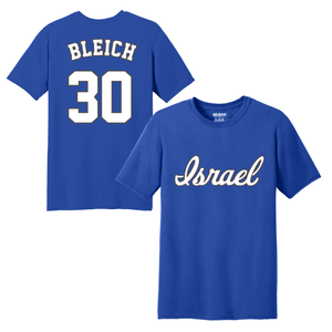 Youth Jeremy Bleich Name and Number T-Shirt - Blue, White