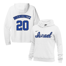 Load image into Gallery viewer, Women's Eric Brodkowitz Name and Number NIKE® Hoodie - Blue, White