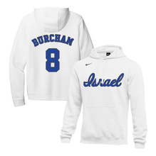 Load image into Gallery viewer, Men's Scott Burcham Name and Number NIKE® Hoodie - Blue, White
