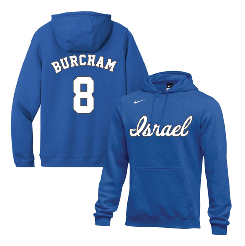 Youth Scott Burcham Name and Number NIKE® Hoodie - Blue, White