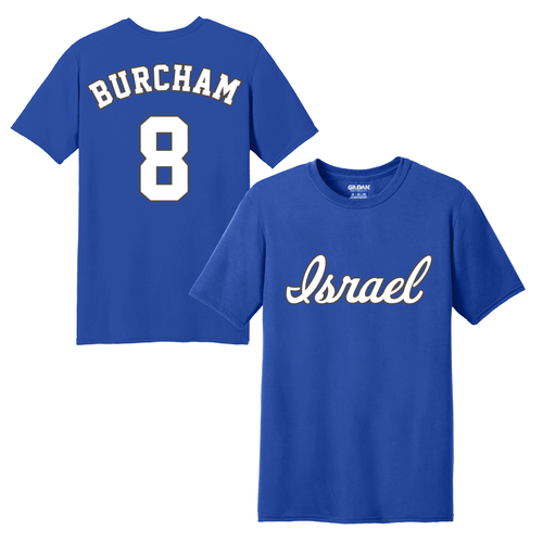 Youth Scott Burcham Name and Number T-Shirt - Blue, White