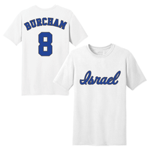 Load image into Gallery viewer, Men's Scott Burcham Name and Number T-Shirt - Blue, White