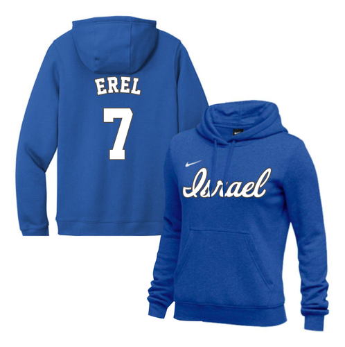 Women's Tal Erel Name and Number NIKE® Hoodie - Blue, White