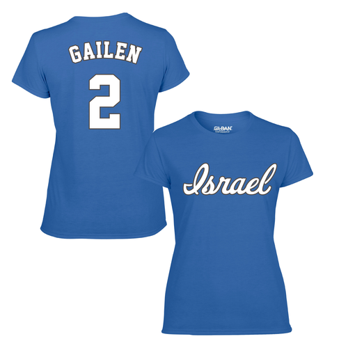 Women's Blake Gailen Name and Number T-Shirt - Blue, White