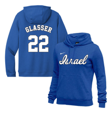 Load image into Gallery viewer, Women's Mitch Glasser Name and Number NIKE® Hoodie - Blue, White