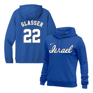 Women's Mitch Glasser Name and Number NIKE® Hoodie - Blue, White