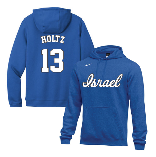 Men's Eric Holtz Name and Number NIKE® Hoodie - Blue, White