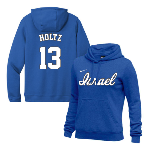 Women's Eric Holtz Name and Number NIKE® Hoodie - Blue, White