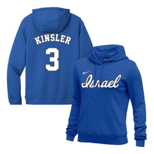 Load image into Gallery viewer, Women's Ian Kinsler Name and Number NIKE® Hoodie - Blue, White