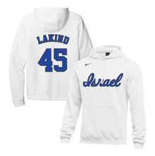 Load image into Gallery viewer, Youth Jared Lakind Name and Number NIKE® Hoodie - Blue, White