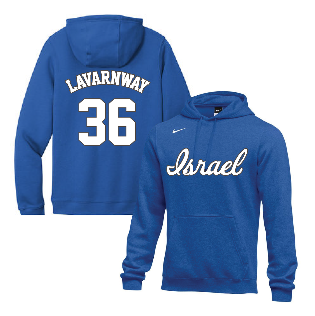 Youth Ryan Lavarnway Name and Number NIKE® Hoodie - Blue, White