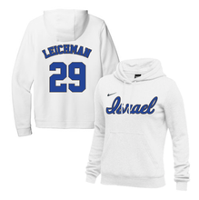 Load image into Gallery viewer, Women's Alon Leichman Name and Number NIKE® Hoodie - Blue, White