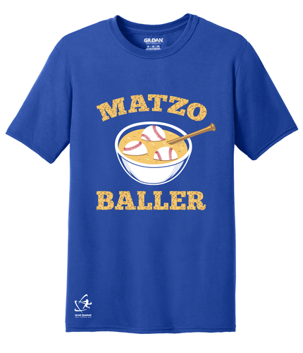 Youth Matzo Baller Short Sleeve T-Shirt - Blue