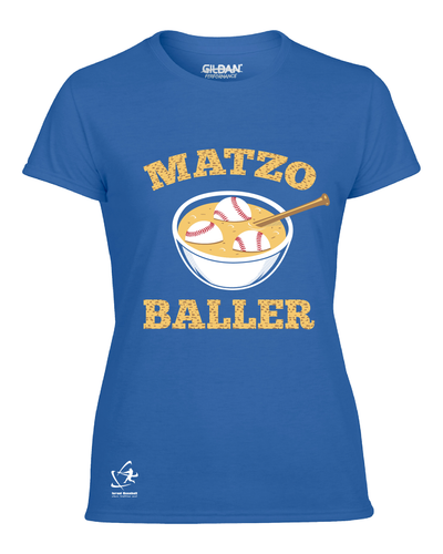 Women's Matzo Baller Short Sleeve T-Shirt - Blue