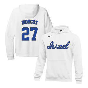 Men's Jon Moscot Name and Number NIKE® Hoodie - Blue, White