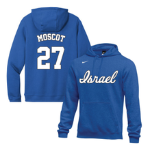 Load image into Gallery viewer, Men's Jon Moscot Name and Number NIKE® Hoodie - Blue, White